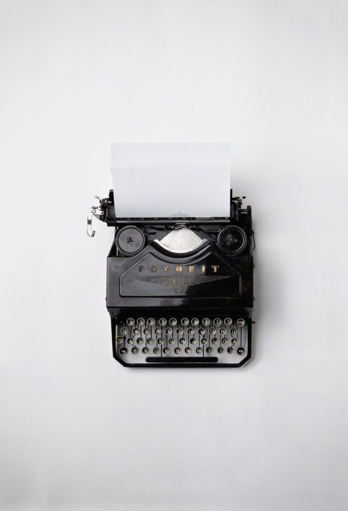 typewriting for content